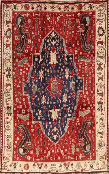 6x9 Kashkoli Shiraz Persian Area Rug