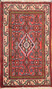 Geometric 2x4 Hamedan Persian Area Rug