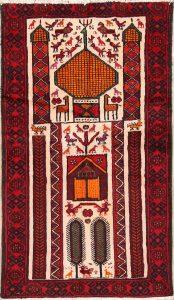 3x6 Balouch Persian Rug Runner