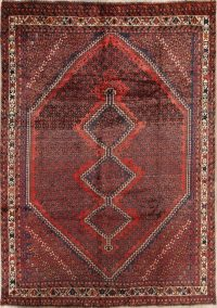 7x9 Shiraz Ghashghaei Persian Area Rug