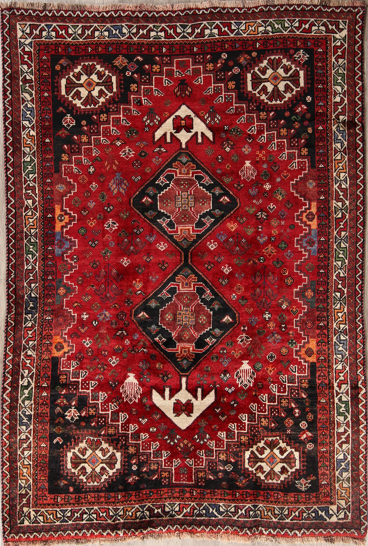 5x7 Nomad Shiraz Qashqai Persian Area Rug