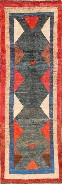 3x10 Gabbeh Shiraz Persian Rug Runner