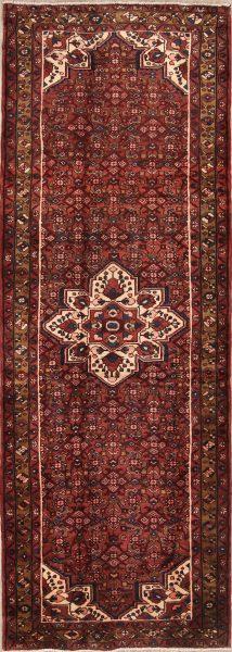 Vintage 4x11 Hamedan Persian Rug Runner
