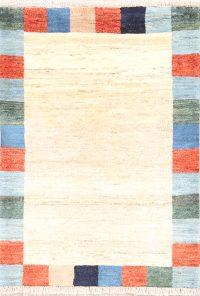 Modern 3x4 Gabbeh Zolanvari Shiraz Persian Area Rug