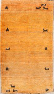 Thick Pile Animals 3x6 Gabbeh Shiraz Persian Rug Runner