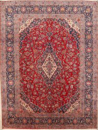 Traditional Floral 10x14 Kashan Persian Area Rug