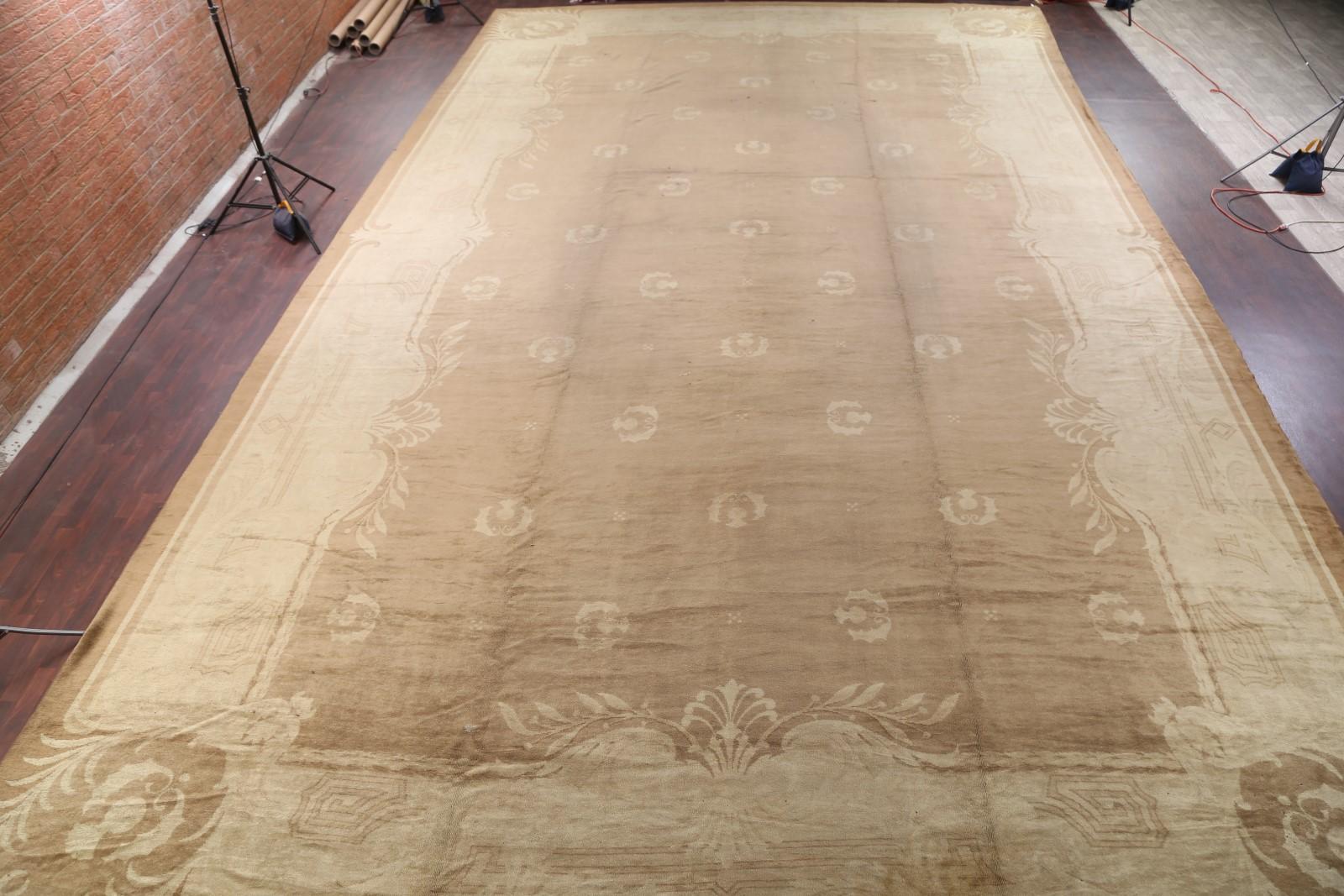 Palace Sized 18x30 Oushak Turkish Oriental Rug Vegetable Dye