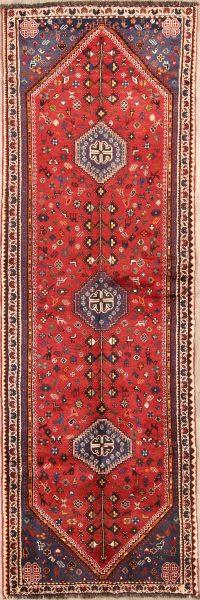3x10 Abadeh Shiraz Persian Rug Runner