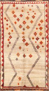 4x7 Gabbeh Qashqai Shiraz Persian Area Rug