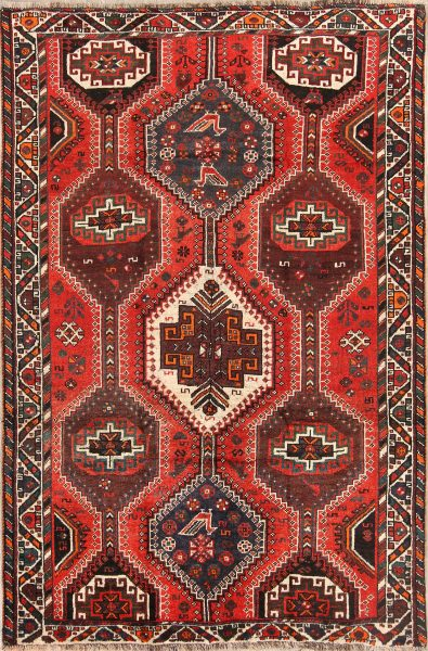 5x8 Shiraz Persian Area Rug