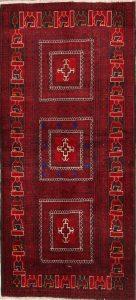 3x7 Balouch Persian Rug Runner
