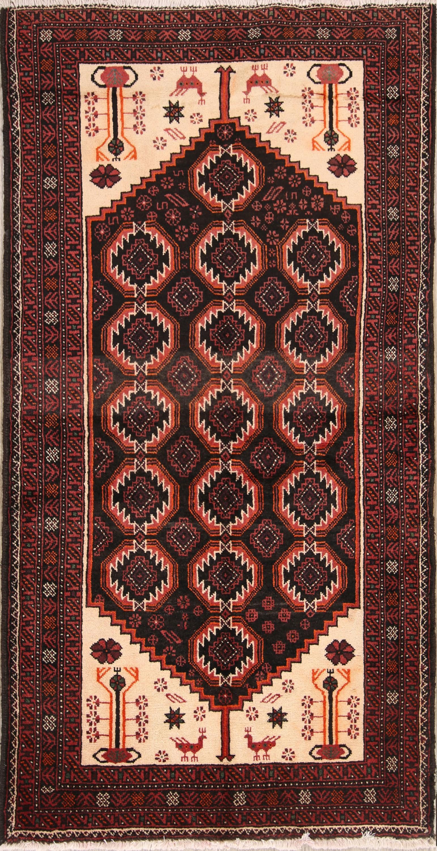 4x7 Balouch Persian Area Rug
