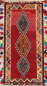 4x9 Kilim Shiraz Persian Rug Runner