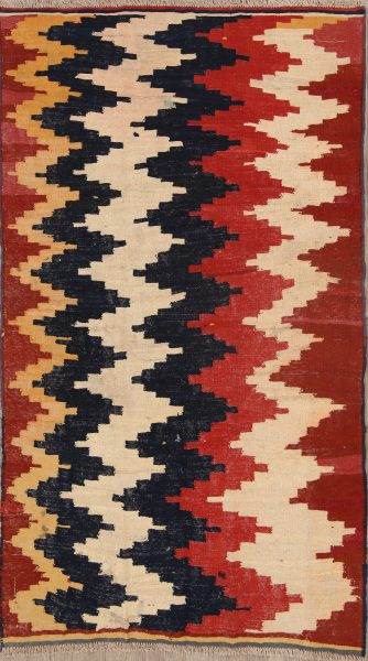 Geometric Tribal 5x8 Kilim Shiraz Persian Area Rug