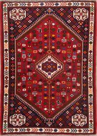 Tribal Geometric 4x5 Abadeh Shiraz Persian Area Rug