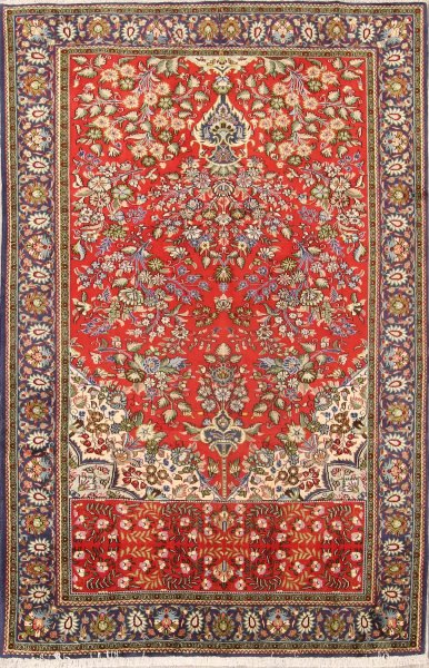 6x10 Kashan Persian Area Rug