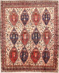 4x5 Shiraz Abadeh Persian Area Rug