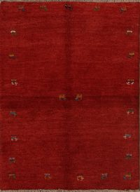 Soft Thick 4x5 Gabbeh Shiraz Persian Area Rug