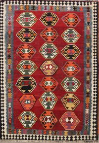 Tribal Nomad 5x8 Kilim Qashqai Persian Area Rug