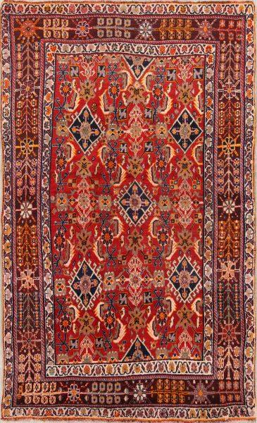 4x6 Kashkoli Shiraz Persian Area Rug