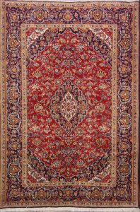 Floral 5x7 Kashan Dabir Persian Area Rug