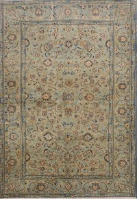 Floral Green 5x7 Kashan Persian Area Rug