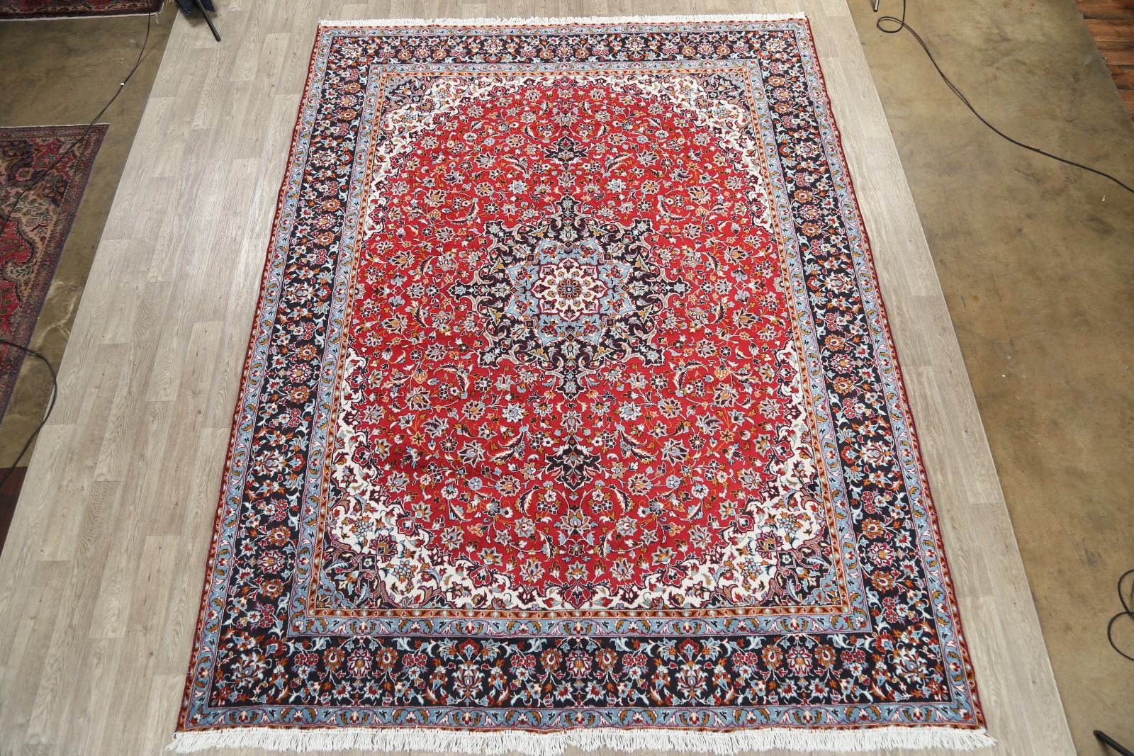 soft plush 9x12 najafabad machine made area rug 88755