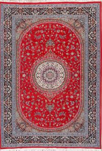 Traditional Floral 8x11 Mashad Persian Area Rug