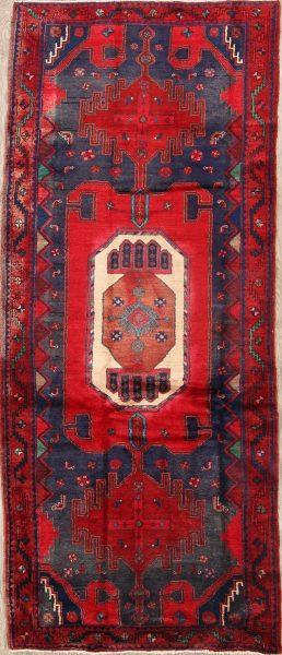 Geometric 4x10 Zanjan Persian Rug Runner