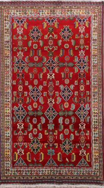 Geometric 5x8 Kashkoli Shiraz Persian Area Rug