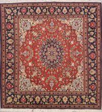 Square Floral 5x5 Sarouk Persian Area Rug
