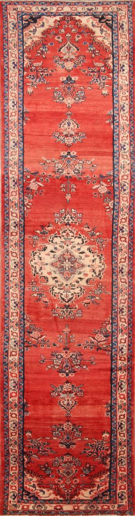 4x17 Malayer Hamedan Persian Rug Runner