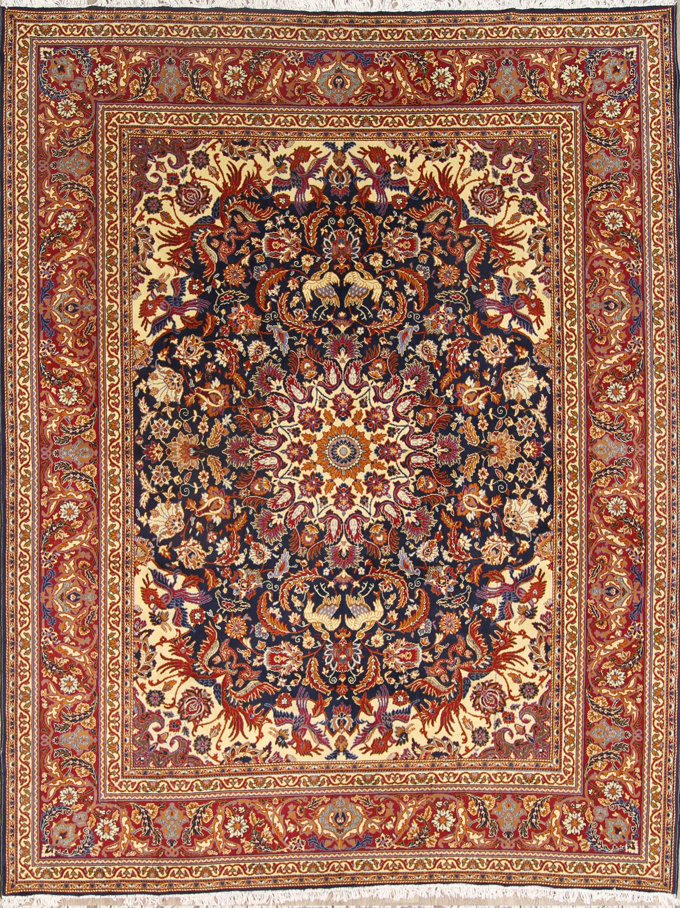 Soft Plush 9x12 Sarouk Machine Made Persian Area Rug