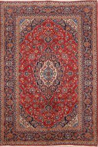 Floral 7x10 Kashan Persian Area Rug