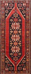 Geometric Tribal 4x9 Bakhtiari Persian Rug Runner