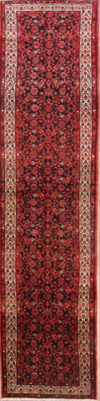 All-Over Floral 3x13 Hamedan Persian Rug Runner