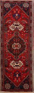 Geometric Tribal 3x9 Kashkoli Shiraz Persian Rug Runner