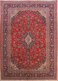 Traditional Floral 10x13 Kashan Persian Area Rug