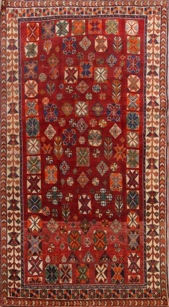 Pre-1900 Vegetable Dye Tribal 5x8 Lori Shiraz Persian Area Rug