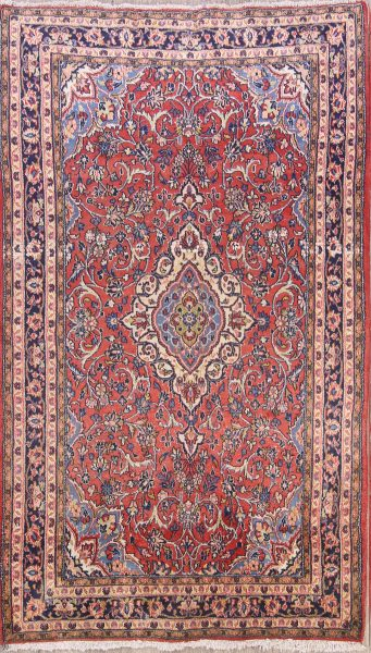 Floral Foyer Size 4x7 Sarouk Persian Area Rug