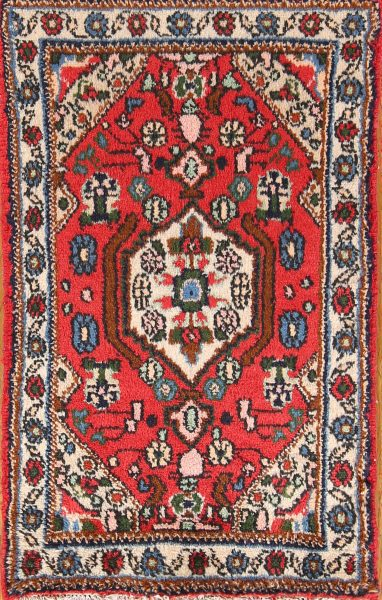 Geometric Foyer Size 2x3 Hamedan Persian Area Rug