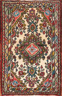 Floral Ivory 2x3 Lilian Hamedan Persian Area Rug