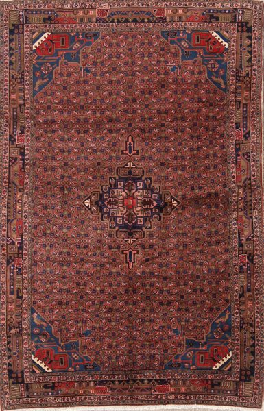Geometric 7x10 Bidjar Gholtogh Persian Area Rug