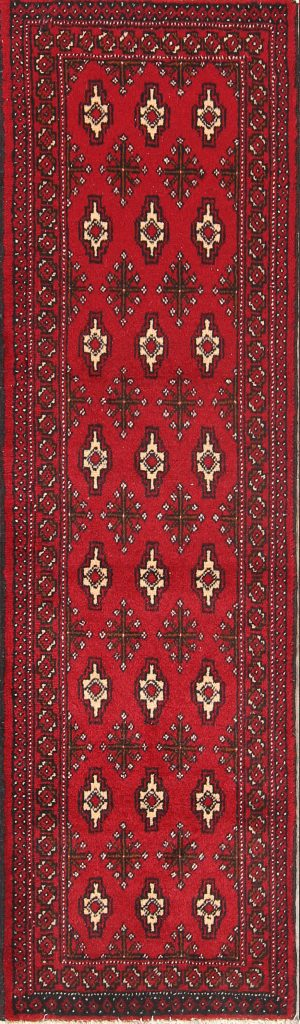 Geometric Narrow 2x6 Balouch Bokhara Persian Rug Runner