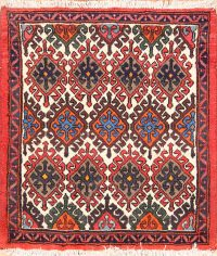 Square 3x3 Malayer Hamedan Persian Rug