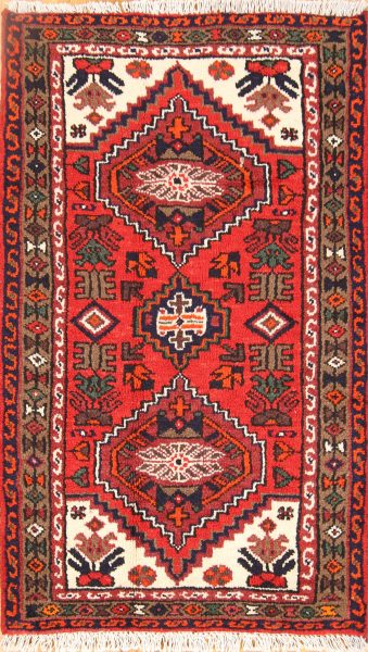 Geometric Tribal 2x4 Hamedan Persian Area Rug