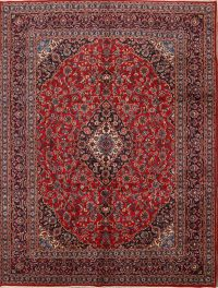 Traditional Floral 10x13 Mashad Persian Area Rug
