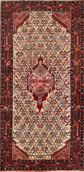Geometric Tribal 4x8 Zanjan Persian Rug Runner