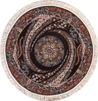 Soft Floral Round 6x6 Tabriz Persian Area Rug