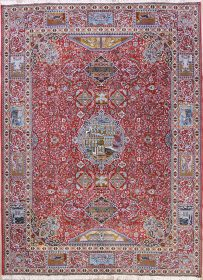 Dynasty Historical Soft Plush 10x13 Kashmar Persian Area Rug